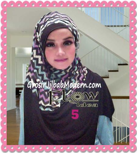 Jilbab Pashmina Instan Modern Zigzagy By Flow Idea No 5 Hitam