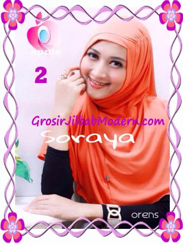 Jilbab Syria Kerut Soraya Original by Apple Hijab Brand No 2 Orens