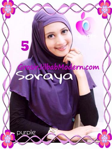 Jilbab Syria Kerut Soraya Original by Apple Hijab Brand No 5 Ungu Tua
