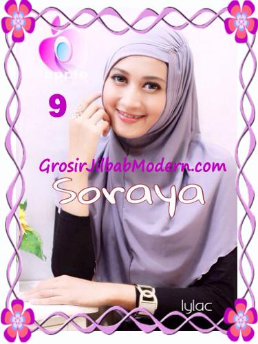 Jilbab Syria Kerut Soraya Original by Apple Hijab Brand No 9 Lylac