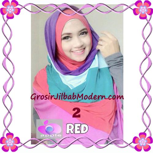 Pashmina Instant Rainbow Modis by Apple Hijab Brand No 2 Merah