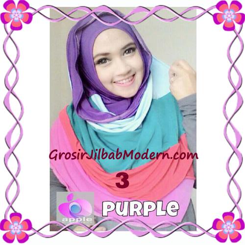 Pashmina Instant Rainbow Modis by Apple Hijab Brand No 3 Ungu