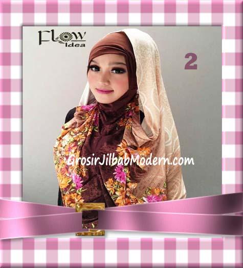 Jilbab Instant Hoodie Inner Maroko Terbaru Marhooda By Flow Idea No 2 Coklat
