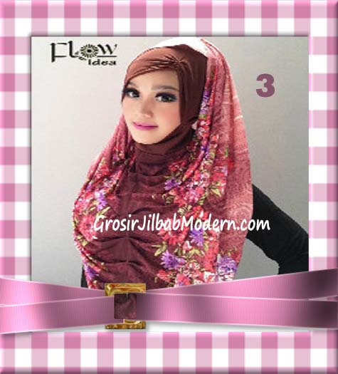 Jilbab Instant Hoodie Inner Maroko Terbaru Marhooda By Flow Idea No 3 Pink