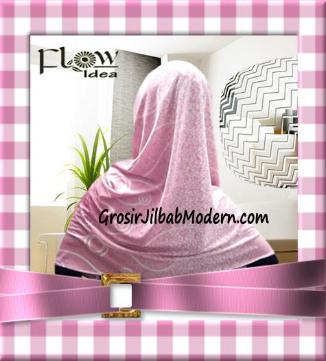 Jilbab Instant Hoodie Inner Maroko Terbaru Marhooda By Flow Idea - Tampak Belakang