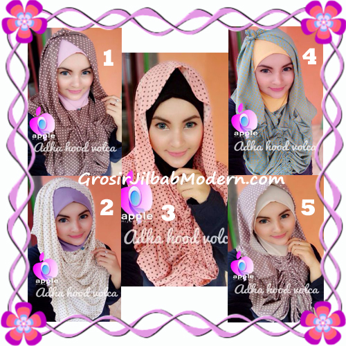 Jilbab Instant Modis Adha Hoodie Volca by Apple Hijab Brand Series