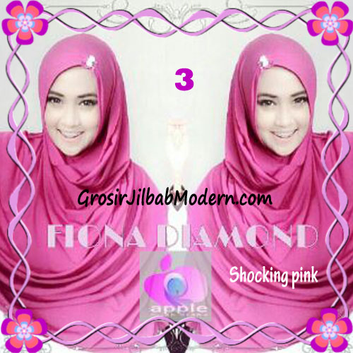 Jilbab Modern Fiona Diamond Syar'i Modis by Apple Hijab Brand No 3 Shocking Pink