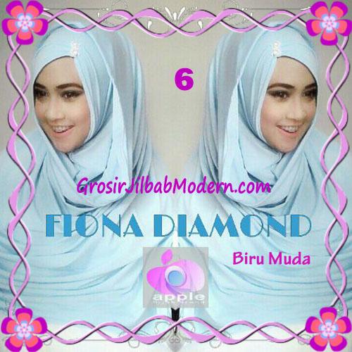Jilbab Modern Fiona Diamond Syar'i Modis by Apple Hijab Brand No 6 Biru Muda