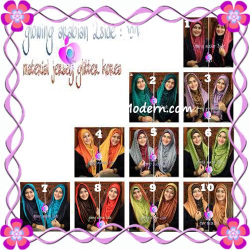 Jilbab Modern Instant Glowing Arabian 2 Side Hoodie by Apple Hijab Brand Series