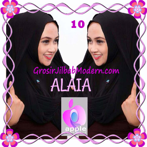 Jilbab  Pashmina Instan Hoodie Alaia Plain by Apple Hijab Brand No 10 Black
