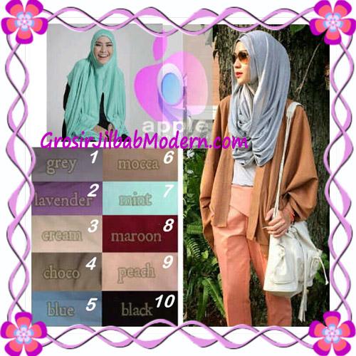 Jilbab  Pashmina Instan Hoodie Alaia Plain by Apple Hijab Brand Series