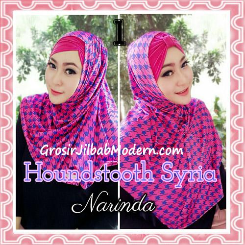 Jilbab Syria Instan 4 Gaya Terbaru Houndstooth By Narinda No 1