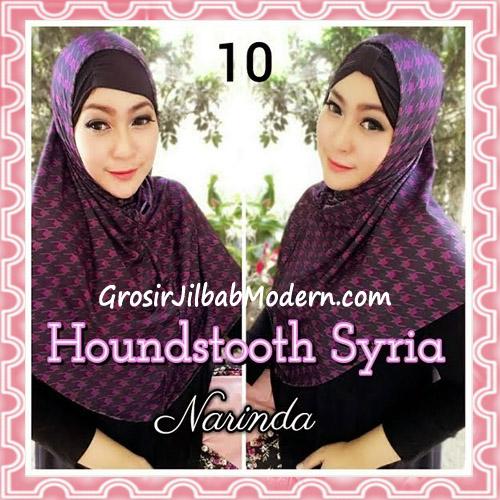 Jilbab Syria Instan 4 Gaya Terbaru Houndstooth By Narinda No 10