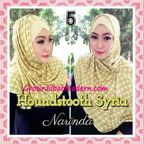Jilbab Syria Instan 4 Gaya Terbaru Houndstooth By Narinda No 5