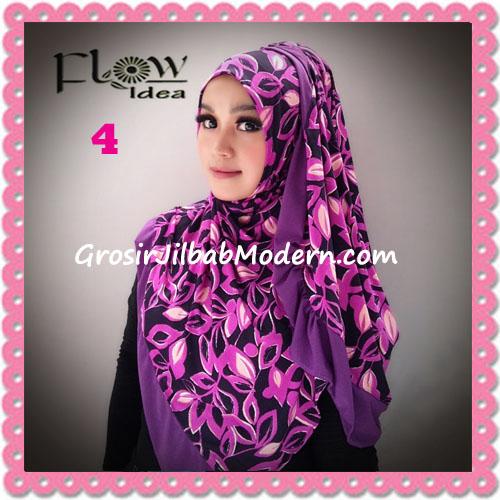 Jilbab Syria Layer Corak Daun Qory by Flow Idea No 4 Ungu