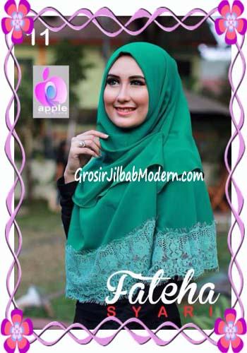 Khimar Cerutti Modis Cantik Fateha  by Apple Hijab Brand No 11 Hijau Daun