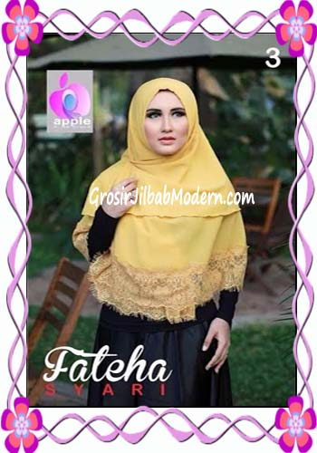 Khimar Cerutti Modis Cantik Fateha  by Apple Hijab Brand No 3 Gold