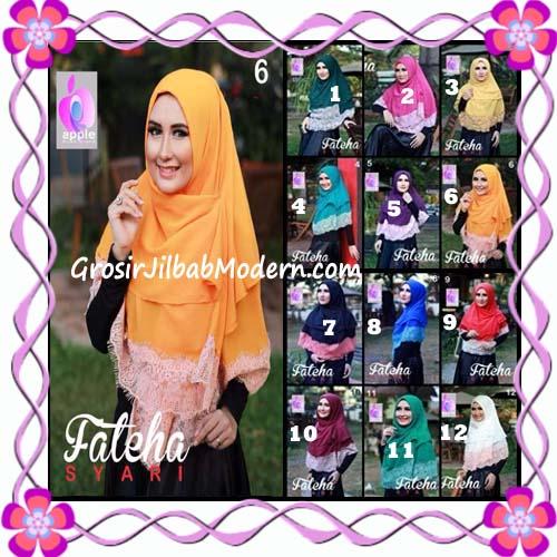 Khimar Cerutti Modis Cantik Fateha  by Apple Hijab Brand Series