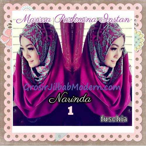 Pashmina Instan Exclusive Cantik Modis Marissa By Narinda No 1 Fuschia