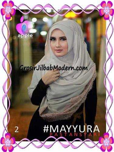 Pashmina Instan Modern Stylish Mayyura By Apple Hijab Brand No 2 Coksu