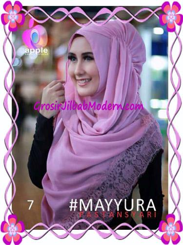 Pashmina Instan Modern Stylish Mayyura By Apple Hijab Brand No 7 Dusty Pink