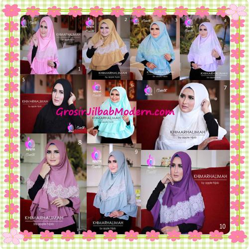 Hijab Syar'i Khimar Halimah Cantik Original By Apple Hijab Brand Series