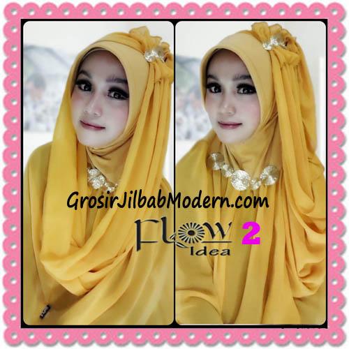 Jilbab Instant Cantik Terbaru Syria Pet Laiqa 2 in 1 Original By Flow Idea No 2 Kuning