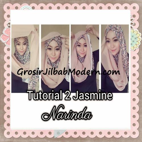 Jilbab Instant Jasmine Pashtan Hoodie Terbaru by Narinda Hijab - Cara Pemakaian Model 2