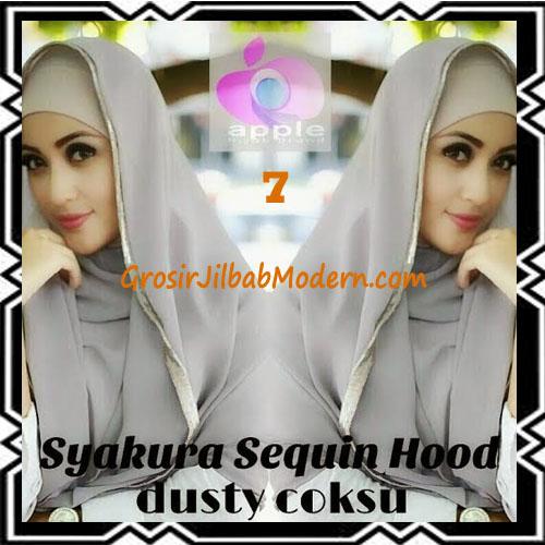 Jilbab Instant Syria Hoodie Syakura Sequin Original by Apple Hijab Brand No 7 Dusty Coksu