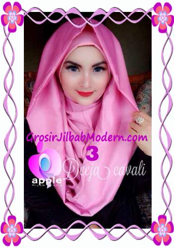 Jilbab Instant Terbaru Deeja Cavali Hoodie Exclusive Original by Apple Hijab Brand No 3 Dusty Pink