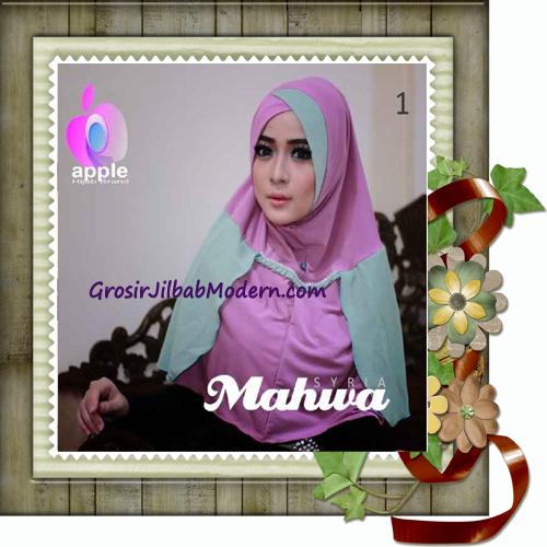 Jilbab Instant Terbaru Syria Mahwa Elegan by Apple Hijab Brand No 1