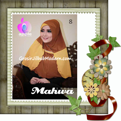 Jilbab Instant Terbaru Syria Mahwa Elegan by Apple Hijab Brand No 8