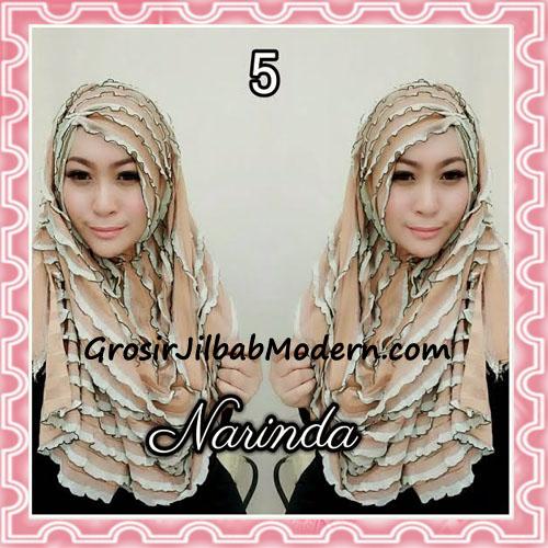 Jilbab Pashmina Instan Ruffle 3tone Modis by Narinda No 5