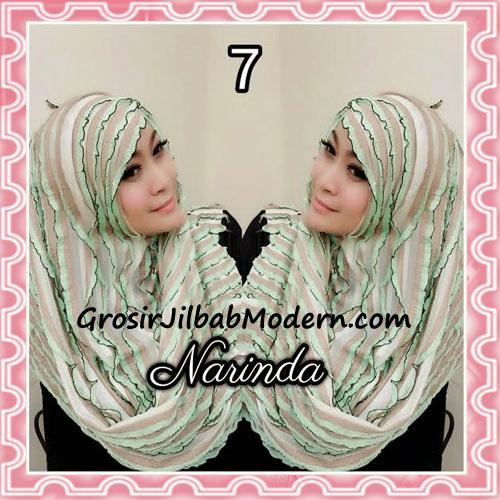 Jilbab Pashmina Instan Ruffle 3tone Modis by Narinda No 7