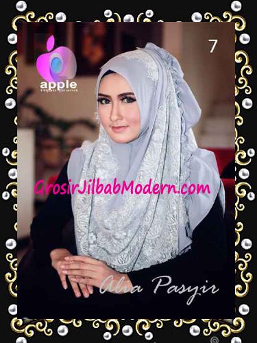 Pashmina Instan Exclusive Terbaru Alia Pasyir By Apple Hijab Brand No 7 Grey