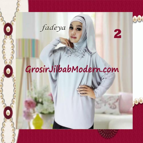 Jilbab Instant Blus Hoodie Cantik Terbaru de Kanaya Original by Fadeya No 2 Abu