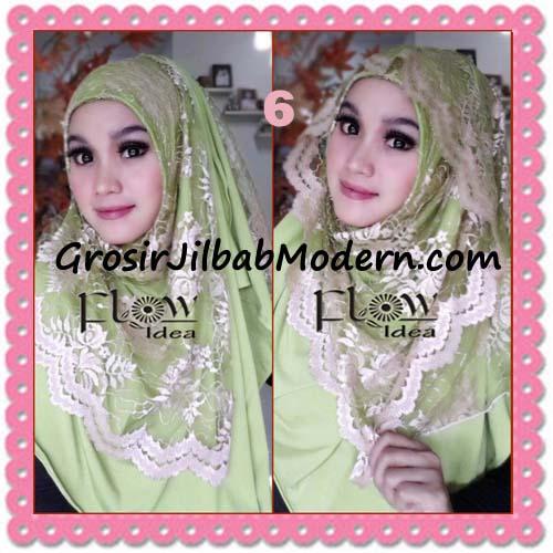Jilbab Instant Cantik Syria Pashmina Terbaru LACENZA by Flow Idea No 6 Hijau Muda
