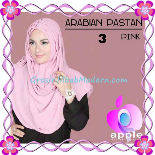 Jilbab Instant Modern Arabian Pastan Original by Apple Hijab Brand No 3 Pink