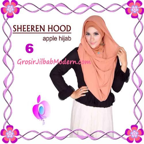 Jilbab Instant Modis Sheeren Hoodie Original by Apple Hijab Brand No 6 Bronze