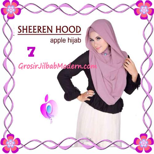 Jilbab Instant Modis Sheeren Hoodie Original by Apple Hijab Brand No 7 Dusty Purple