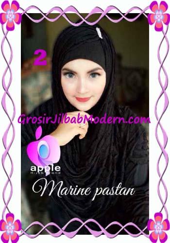 Jilbab Pashmina Instant Marine Modis by Apple Hijab Brand No 2 Hitam