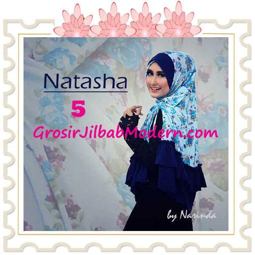 Jilbab Syar'i Natasha Pet Silang  Original by Narinda No 5 Biru