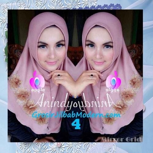 Jilbab Syria Anindya Bunga 3 Dimensi Original By Apple Hijab Brand No 4 Rossy