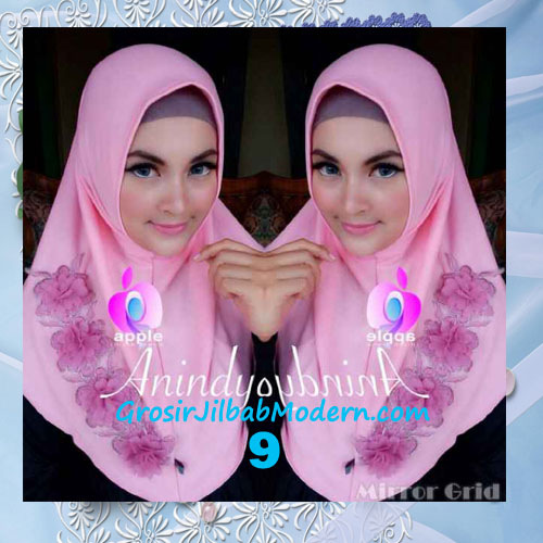 Jilbab Syria Anindya Bunga 3 Dimensi Original By Apple Hijab Brand No 9 Pink