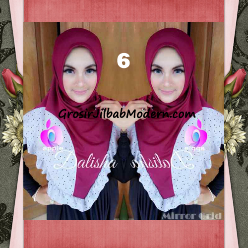 Jilbab Syria Cantik Dalisha by Apple Hijab Brand No 6 Maroon