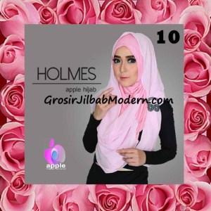 Jilbab Syria Pashmina Instant Modis Terbaru Holmes by Apple Hijab Brand No 10 Pink