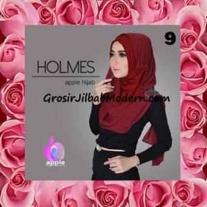 Jilbab Syria Pashmina Instant Modis Terbaru Holmes by Apple Hijab Brand No 9 Marun