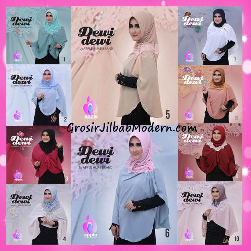 Jilbab Syria Syar'i Dewi Dewi Trendy Original by Apple Hijab Brand Series