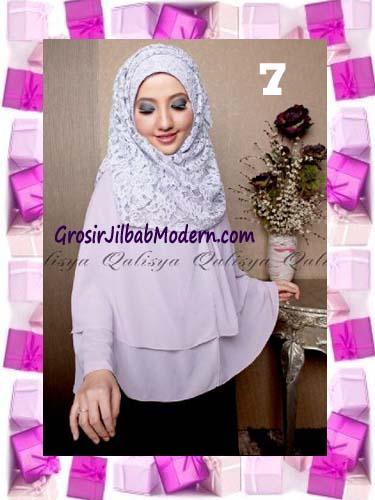 Khimar Pesta Instant Cantik Ghaida Syria Pashmina by Qalisya No 7 Soft Lavender