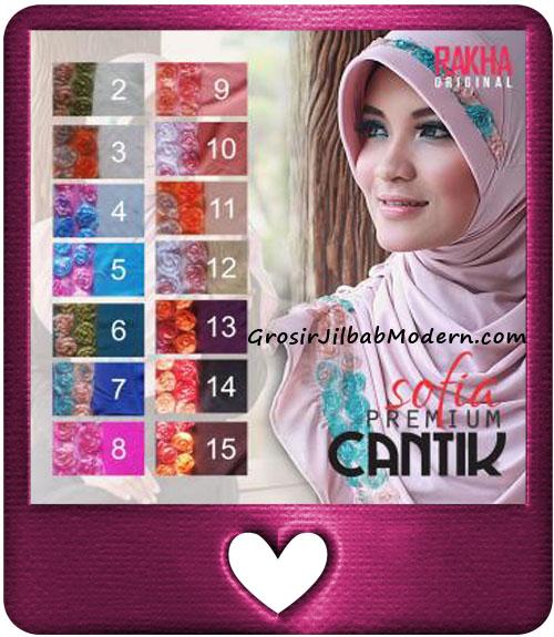 Jilbab Harian Sofia Premium Cantik Original by Rakha Series